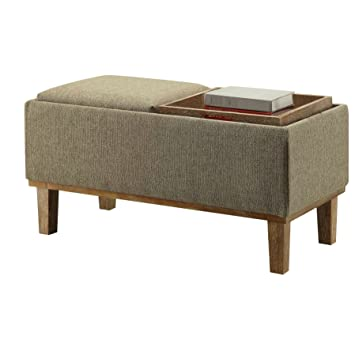 Phenomenal Amazon Com Modern Eco Friendly Storage Ottoman With Ibusinesslaw Wood Chair Design Ideas Ibusinesslaworg