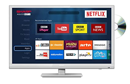 Sharp LC-24DHG6001KW 24 Inch HD Ready LED Smart TV with