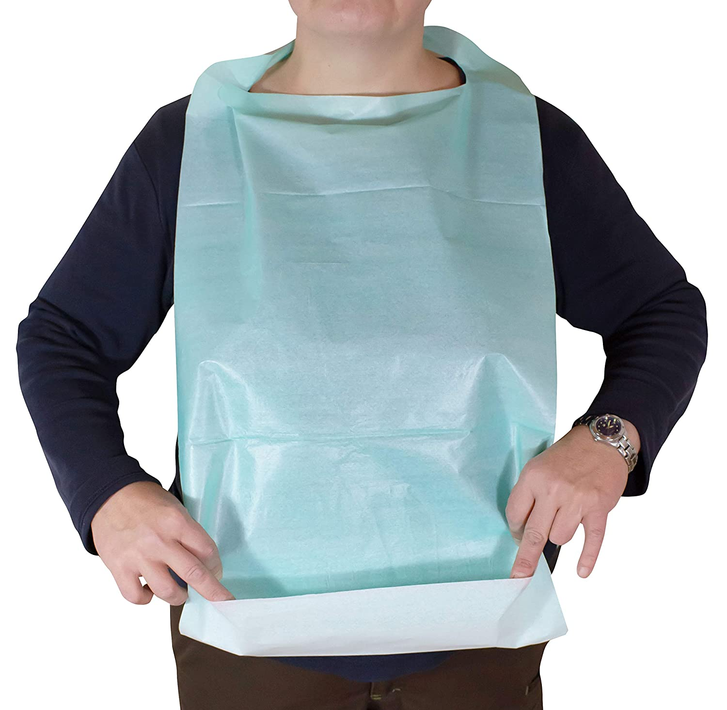 Bibs For Adults >> 50 Disposable Bibs For Adults And Children 64 Cm X 36 Cm Medi Inn