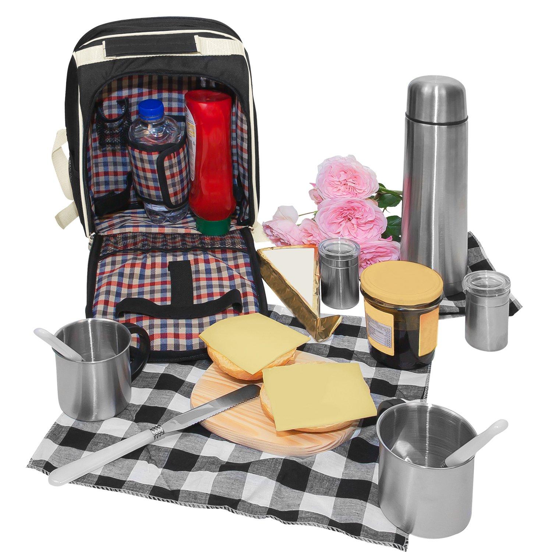 #Picknick Rucksack mit Kühlfach für 2 Personen#