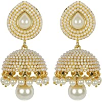 Shining Diva Stylish Fancy Party Wear Traditional Pearl Jhumki / Jhumka Earrings For Girls & Women