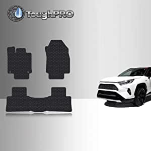 2020 All Weather Heavy Duty - Front Row + 2nd Row Compatible with Audi Q8 - Black Rubber TOUGHPRO Floor Mat Accessories Set Made in USA 2019