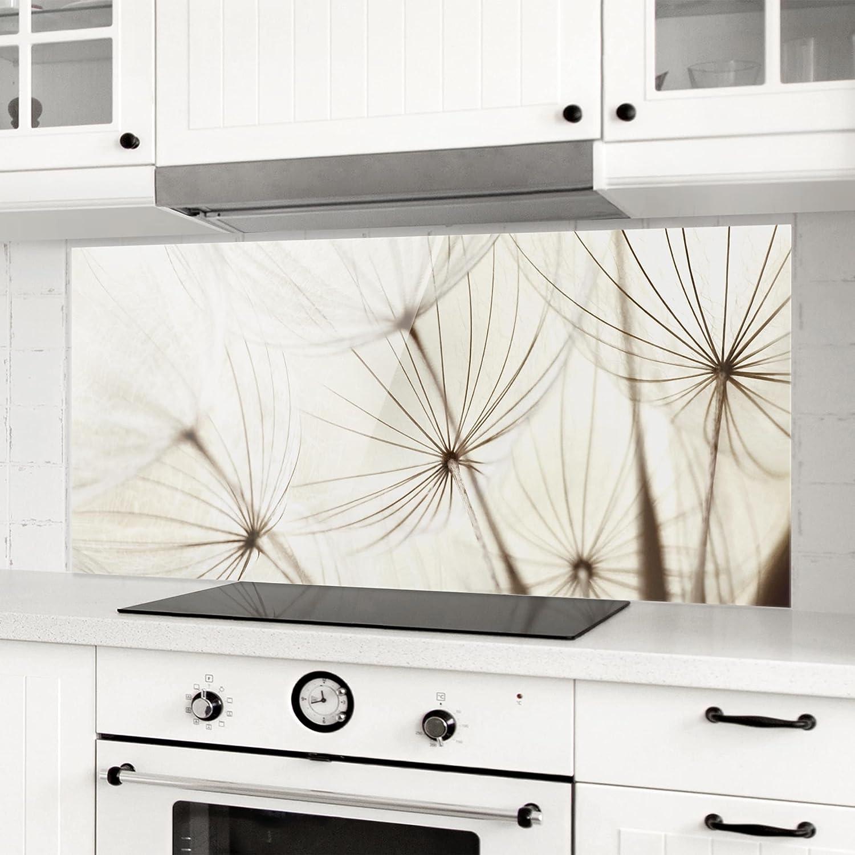 Panorama Peinture Murale revetement Mural Cuisine dosseret de Cuisine Impression sur Verre Fond de Cuisine Dimension: 40cm x 100cm Bilderwelten Cr/édence en Verre Gentle Grasses