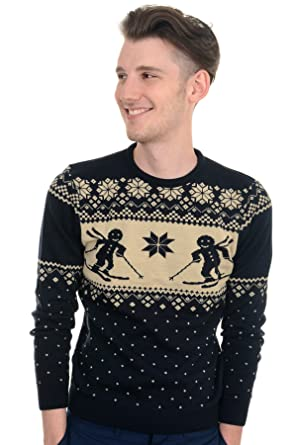 Men's Indie Hipster Retro 70s 80s Vintage Fair Isle Gingerbread ...