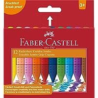 FABER-CASTELL 5281122540 Grip Jumbo Mum Boya 12 Renk