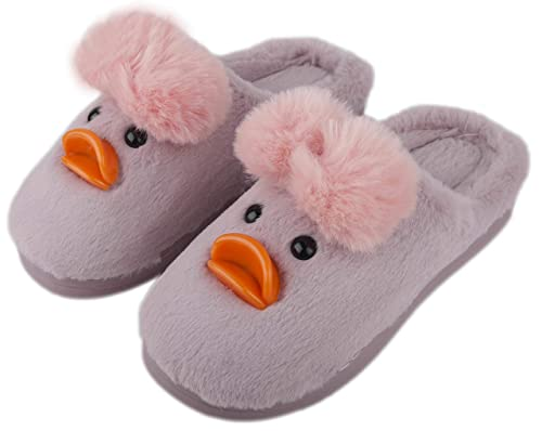 3f4da83eb13 Irsoe Duck Velvet Anti-Slip Soft Bottom Wool Slip-On Indoor   Outdoor  Winter Slippers for Women and Girls- Purple  Buy Online at Low Prices in  India ...
