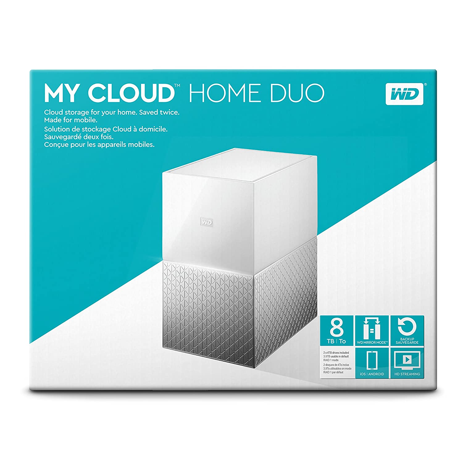 Western Digital 6TB My Cloud Home Personal Network Attached Storage /BVXC0060HWT-NESN NAS