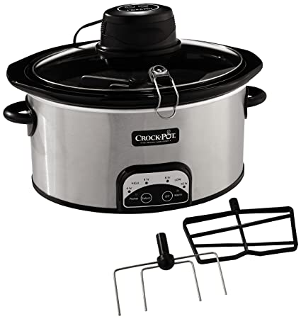 Crock Pot Sccpvp650as S Istir Automatic Stirring Slow Cooker Amazon