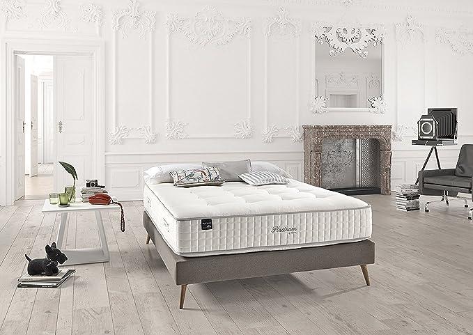 Dupen Titanium - colchón de micromuelles ensacados - Lana Virgen y algodón Natural - camasymas (180x200): Amazon.es: Hogar