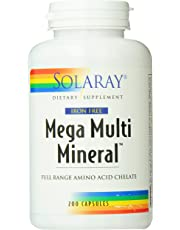 Solaray Multi Mineral, Mega?, Iron Fre