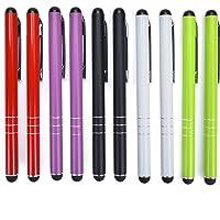Yizhet 10x Eingabestift Stylus Stift Touch Pen Touchstift Universal für iPhone iPad Samsung und Alle Smartphone Handy Tablet mit kapazitiven Touchscreen (3-Ring Version)