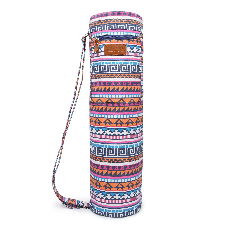 Funda con cremallera Elenture para esterilla de yoga, con bolsillos de almacenamiento multifuncionales
