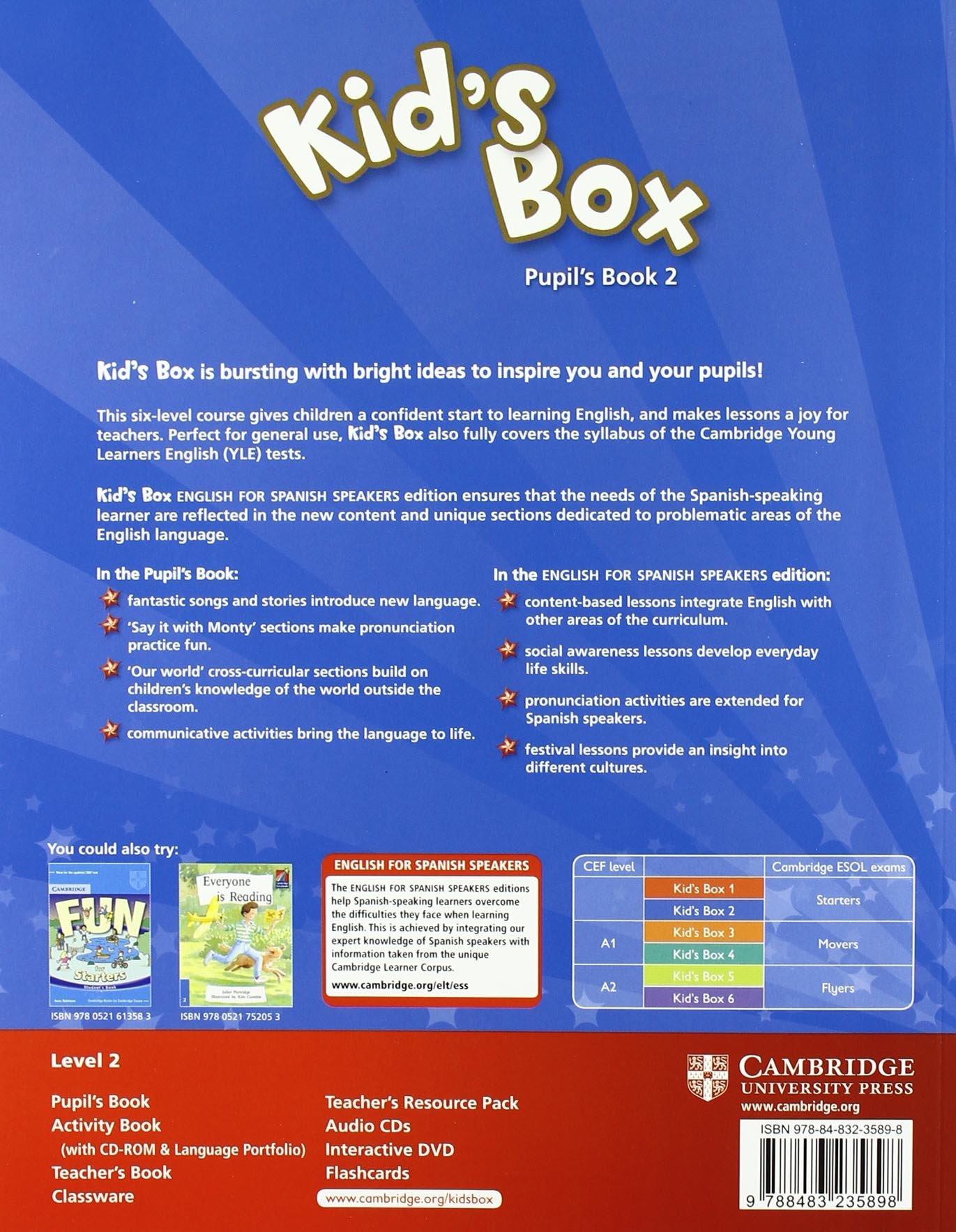 Kid's Box for Spanish Speakers 2 Pupil's Book - 9788483235898: Amazon.es:  Caroline Nixon, Michael Tomlinson: Libros en idiomas extranjeros