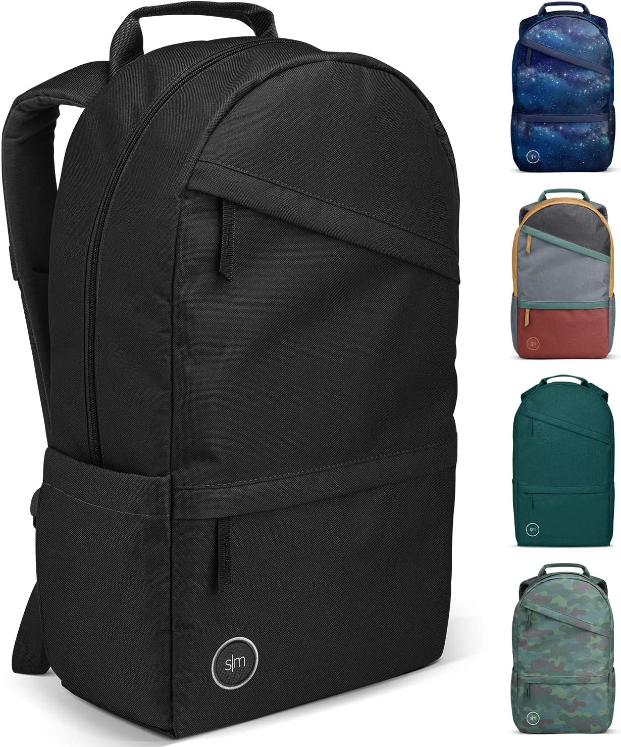 Simple Modern Legacy Backpack with Laptop Compartment Sleeve - 25L Travel Bag for Men & Women College Work School -Midnight Black
