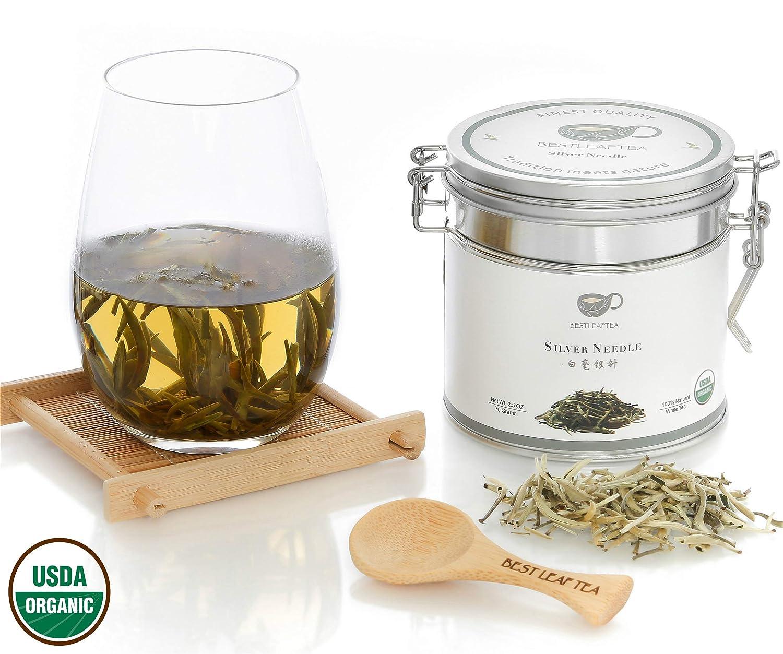 BESTLEAFTEA- Organic Silver Needle White Tea/Bai Hao Yin Zhen/70g/ 2.5Oz