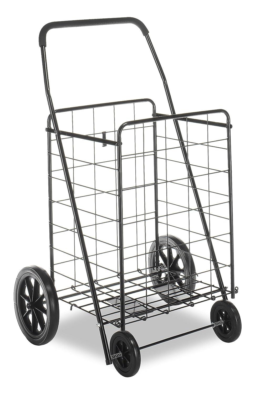 amazoncom whitmor deluxe utility cart black home kitchen - Rolling Utility Cart