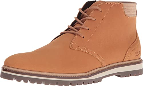 Lacoste Men's Montbard Chukka 316 1 Light Brown Boot 11.5 M