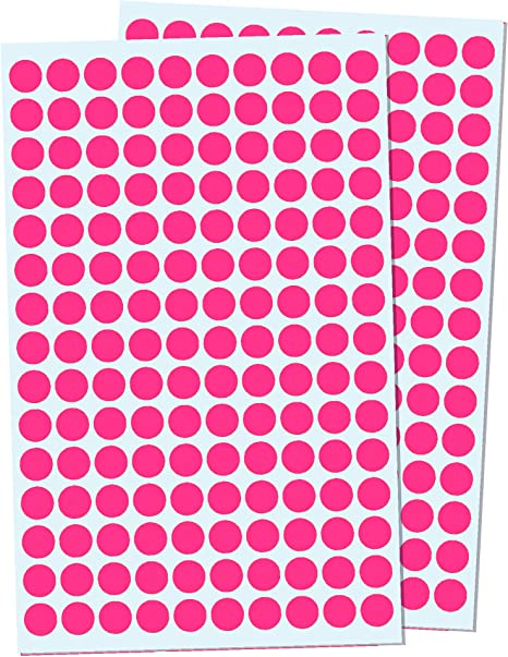 Pink 2cm Round Colour Coding Circle Dot Sticker Labels Pack of 2000