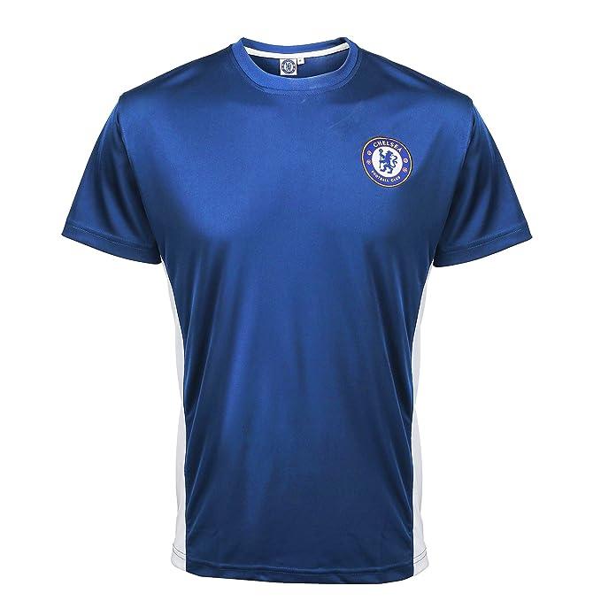e068da4b09 Chelsea FC - Camiseta de Entrenamiento Deporte para Adulto - Producto  Oficial  Amazon.es  Ropa y accesorios