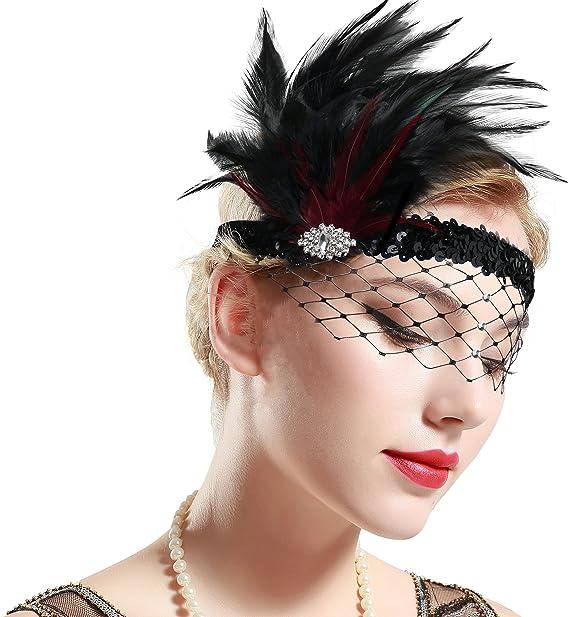 Headband Cristal 1920s Bandeau Plume Gatsby Flapper Accessoires Charleston Bandeau Ann/ée 20 Vintage Partie /à Th/ème ArtiDeco Bandeau Gatsby