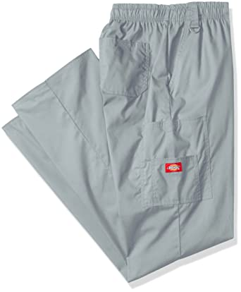dbd5cbb2fbe Amazon.com: Dickies Men's Big Signature Elastic Waist Scrubs Pant, Grey,  X-Large Tall: Clothing