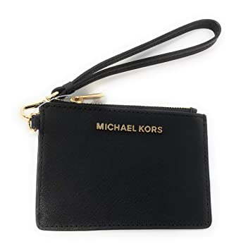 b822fdea11f1 Michael Kors Jet Set Travel Top Zip Coin Pouch ID Card Case Wallet Wristlet  (Black