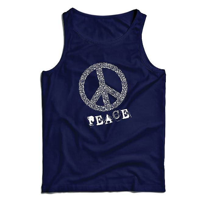 lepni.me Camisetas de Tirantes para Hombre Símbolo DE Paz - 1960s Hippies Hippie Festivals, Signo de la Paz, Summer Festival Hipster Swag: Amazon.es: Ropa y ...