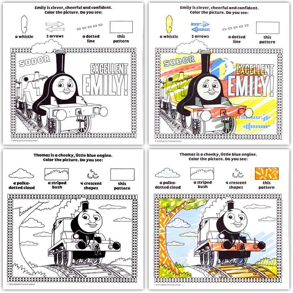 2 Books and Mess Free Marker Thomas the Train Imagine Ink Book and Sticker Book Set Tottenzo