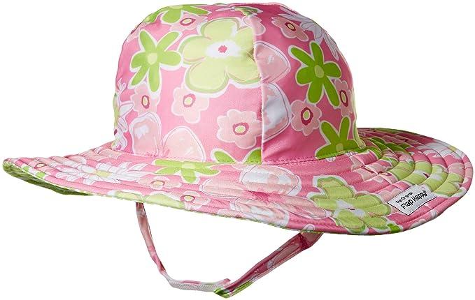 2360cbafe38 Flap Happy Girls' Toddler UPF 50+ Summer Splash Swim Hat, Hibiscus Garden,
