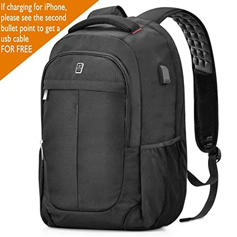 Sosoon Laptop Backpack, Business Bags with USB Charging Port Anti-Theft  Water Resistant Polyester