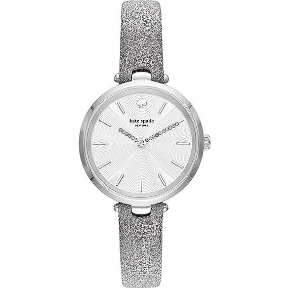 Kate Spade Holland KSW1475 - Reloj metálico para Mujer, Color Plateado: Amazon.es: Relojes