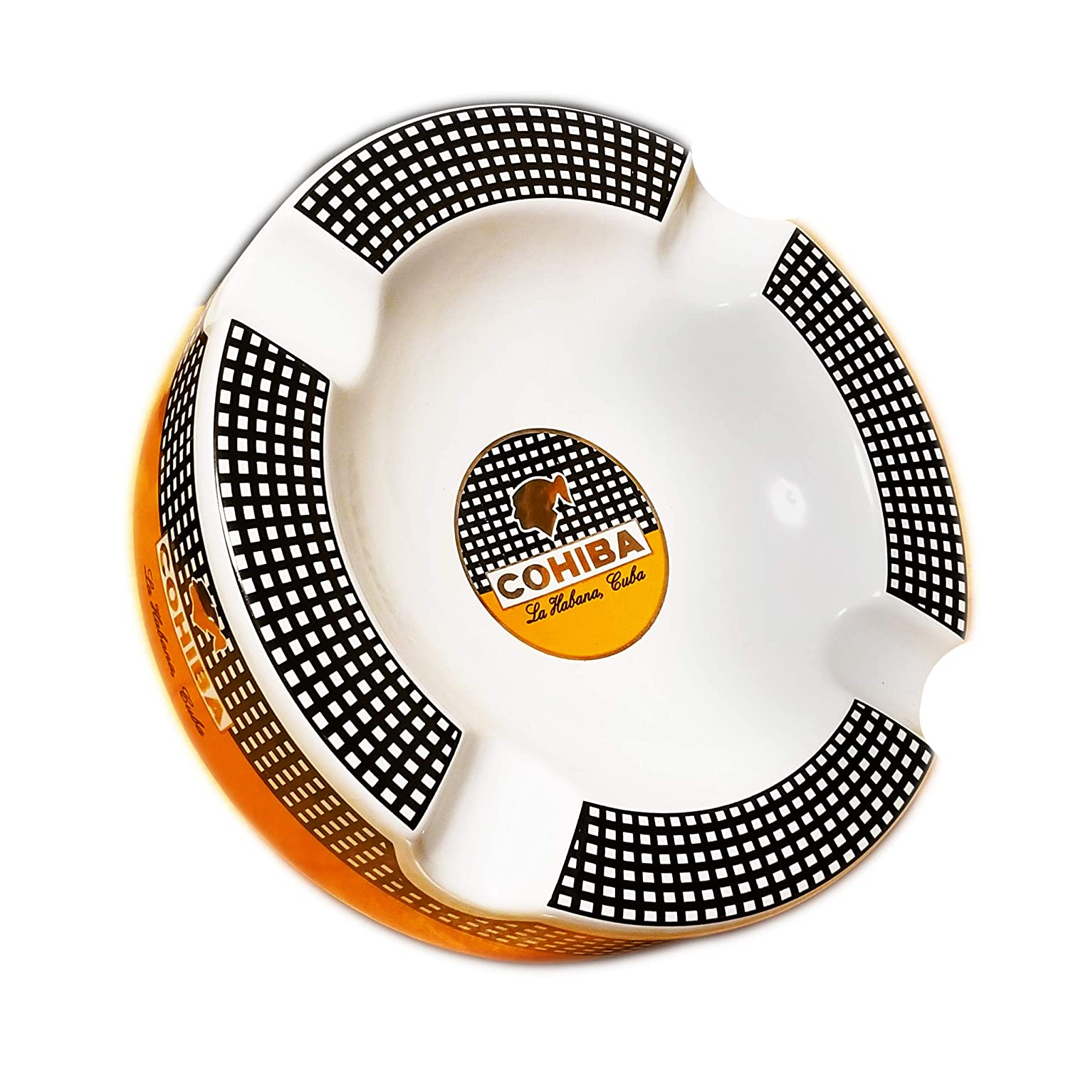 Cohiba Cigars Large Ceramic Ashtray for Patio/out Door Use 4 Cigar Rests … SIKARX