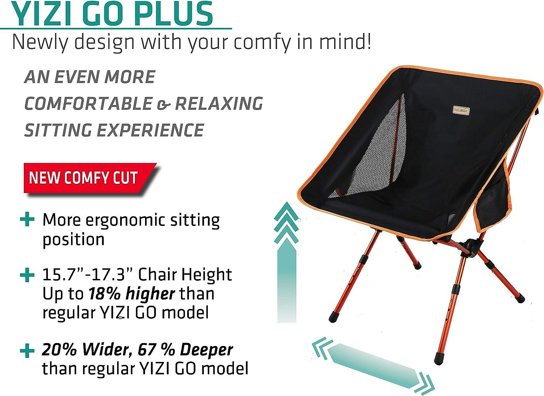 Trekology yizi Go Portatile Campeggio Sedia regolabile in altezza-compatto.