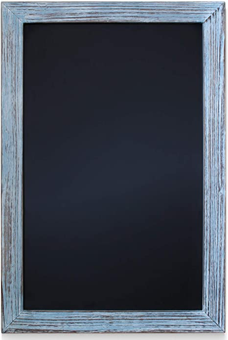Amazon Com Hbcy Creations Rustic Blue Magnetic Wall Chalkboard Extra Large Size 20 X 30 Framed Decorative Chalkboard Great For Kitchen Decor Weddings Restaurant Menus And More 20 X30 Home Kitchen