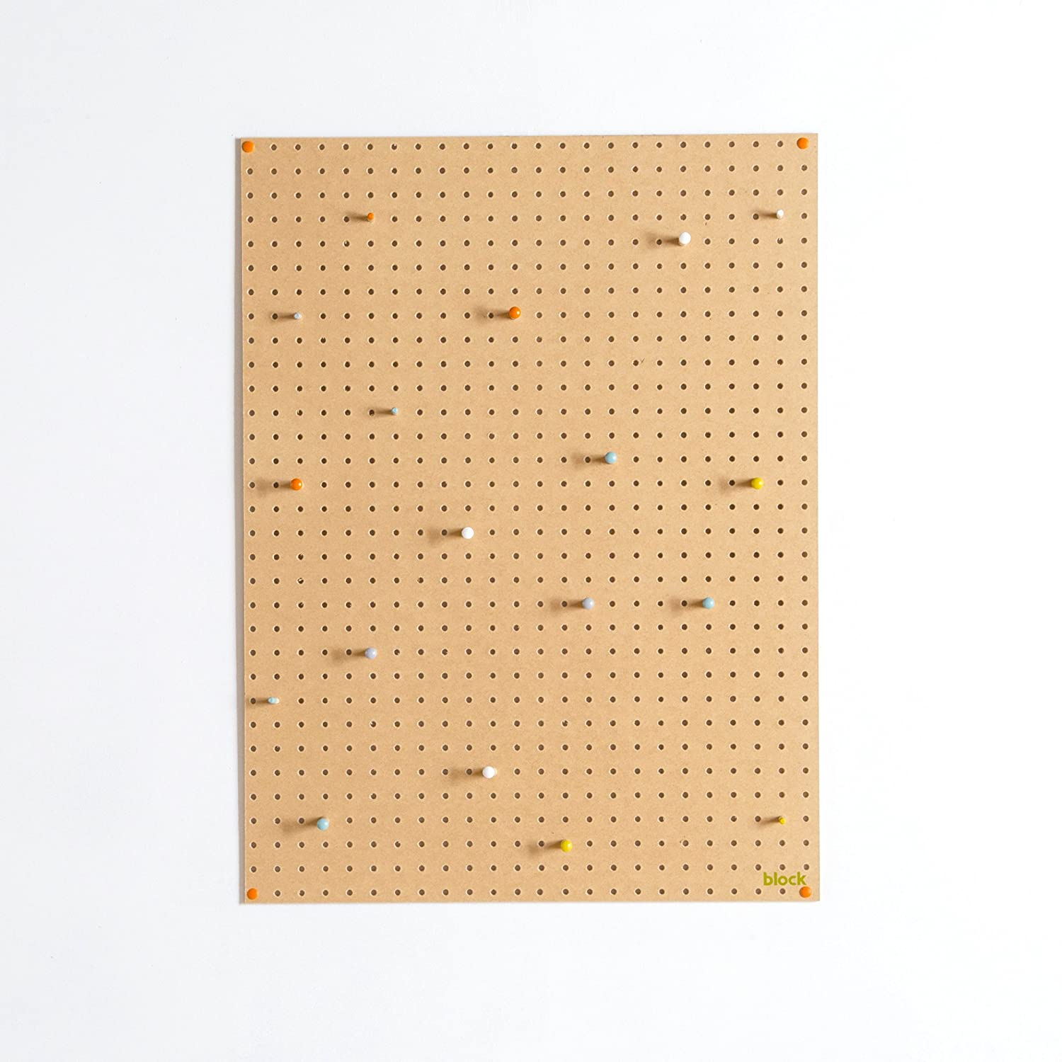 Block Light Blue Pegboard with Wooden Pegs, Small 58LB