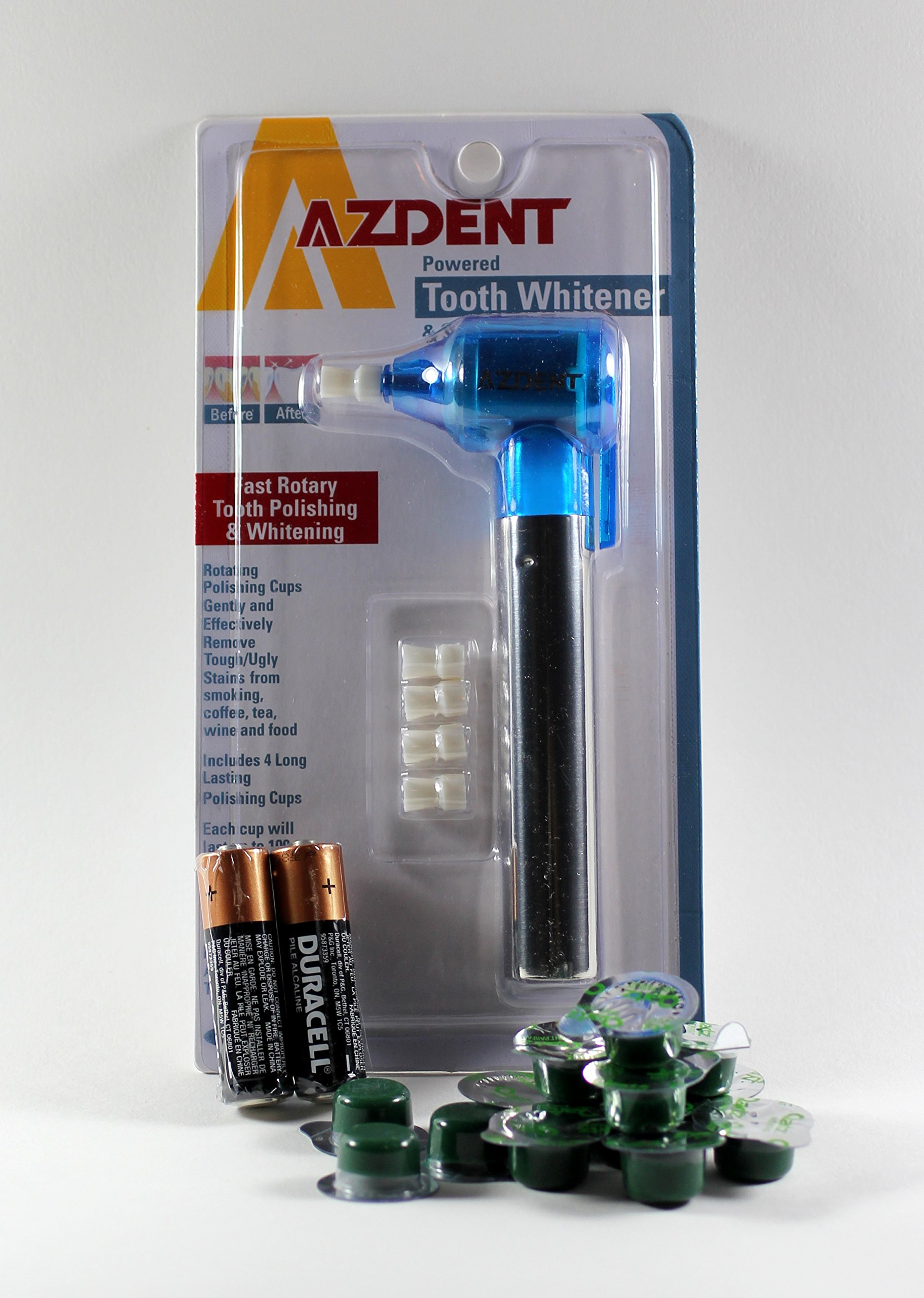 Azdent Tooth Polisher + 14 Cups Qartz Mint Medium Grit Professional Tooth Polish by Qartz (Image #1)