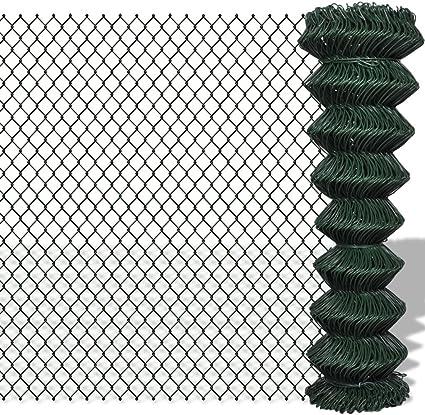 vidaXL Rete per Recinzione Acciaio Zincato Rivestimento PVC Recinto a Maglia