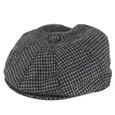 b58832145 Hat To Socks Dogtooth Pattern 8-Panel Flat Cap: Amazon.co.uk: Clothing