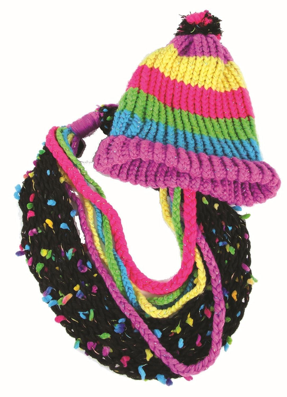 amazon com wooky entertainment style me up rainbow knitting kit