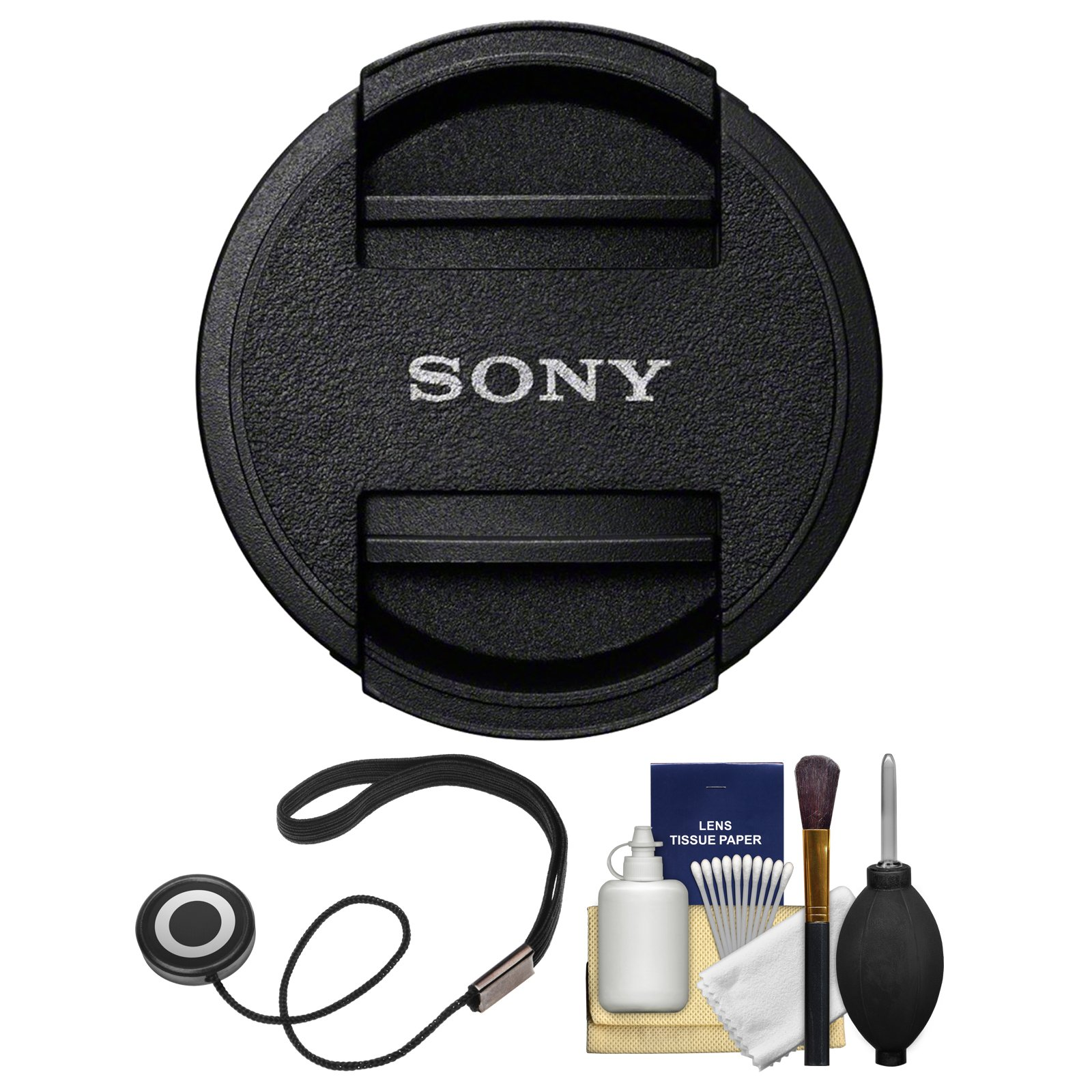 Sony ALC-F55S 55mm Lens Cap with Cap Keeper + Cleaning Kit