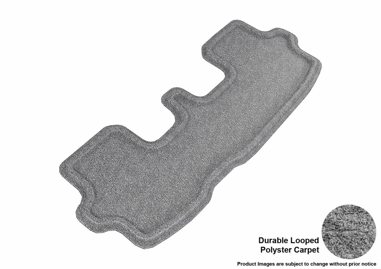 L1TY15022201 3D MAXpider Second Row Custom Fit Floor Mat for Select Toyota Highlander Models Classic Carpet Gray