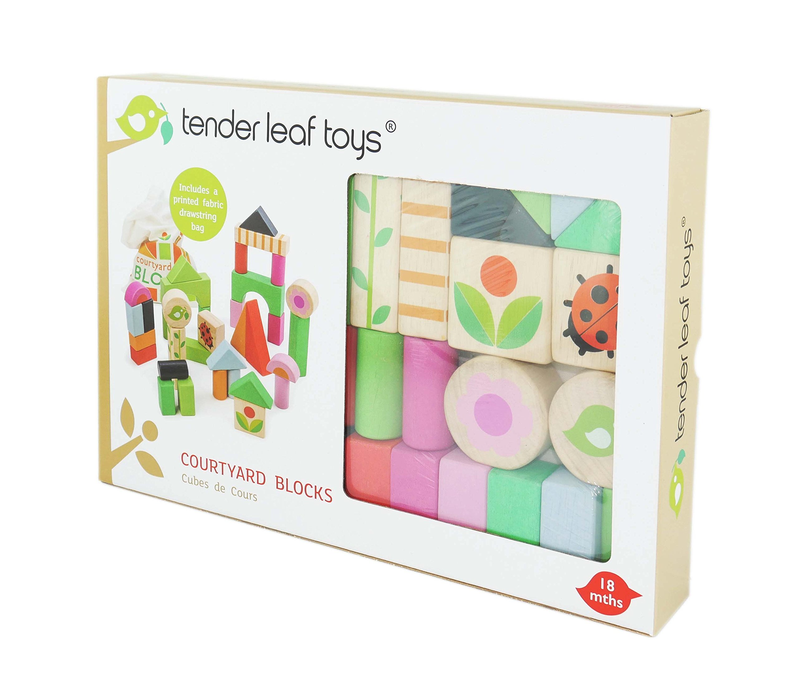 Tender Leaf - Learning Set Blocks Construction Wood Nature, Multicolour (1)