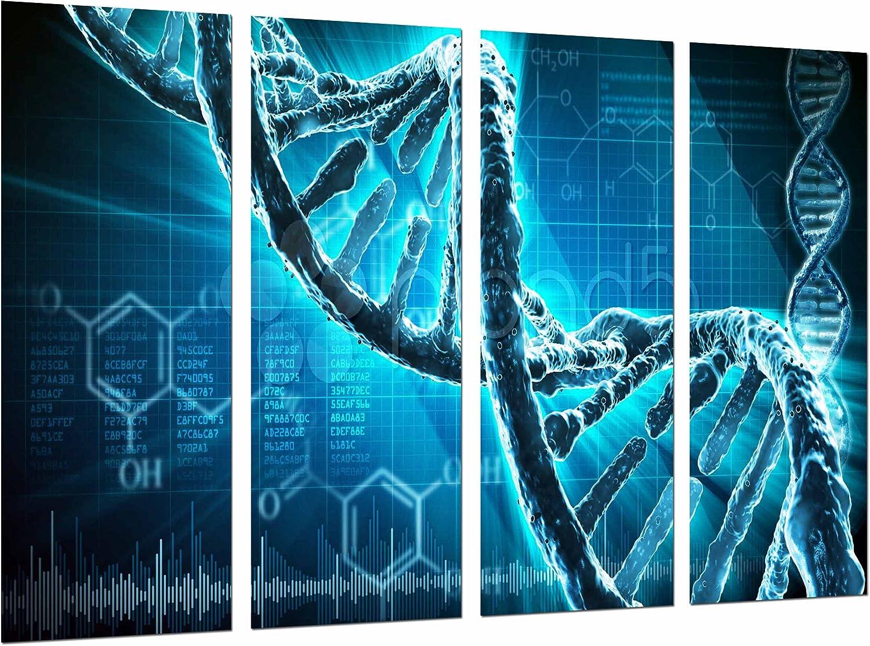 Cuadros Camara Poster Fotográfico Biologia, Ciencia, Cromosoma, Cadena ADN Azul Tamaño total: 131 x 62 cm XXL, Multicolor