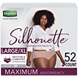 Depend Silhouette Incontinence Underwear for Women, Maximum Absorbency, Disposable, Large/Extra-Large, Pink, 52 Count (Packaging May Vary)