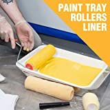 Cambridge Paint Tray Kit Deluxe Assortment Includes Tray, Liner, Rollers, Brush, Painters Tape, N95 Rated Face Mask, Shoe Covers, Disposable Gloves, Shop Rags, Plastic Sheeting