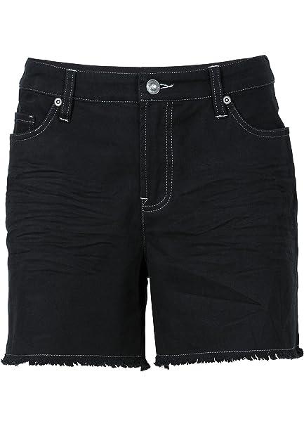 Outlet-Store besserer Preis kaufen Damen Twill Shorts im Used Look in Gr. 32 Schwarz kurze Hose ...