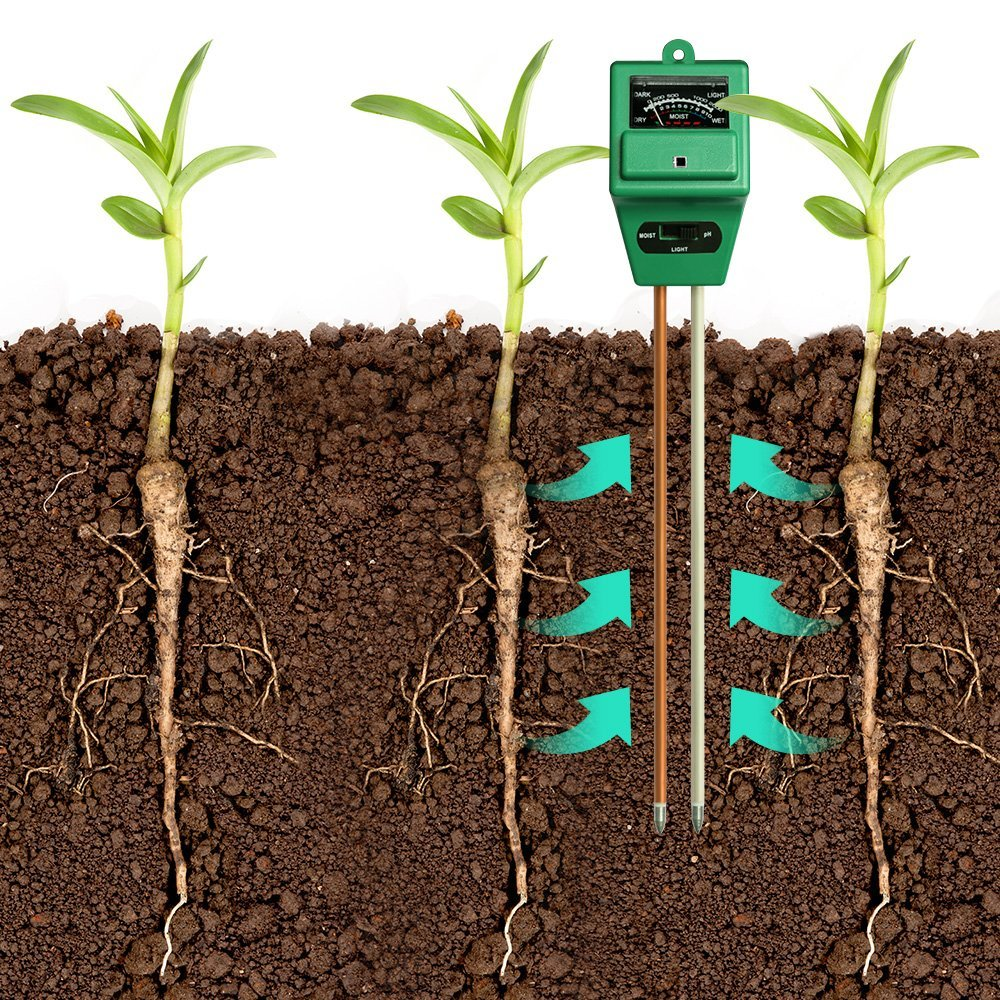 PH acidity and Light Tester Indoor /& Outdoor Plant Soil Tester Kit No Battery needed Farm MoonCity 3-in-1 Soil Moisture Meter Great For Garden Lawn