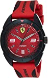 Ferrari Unisex-Adult Quartz Watch, Analog Display and Silicone Strap 830517
