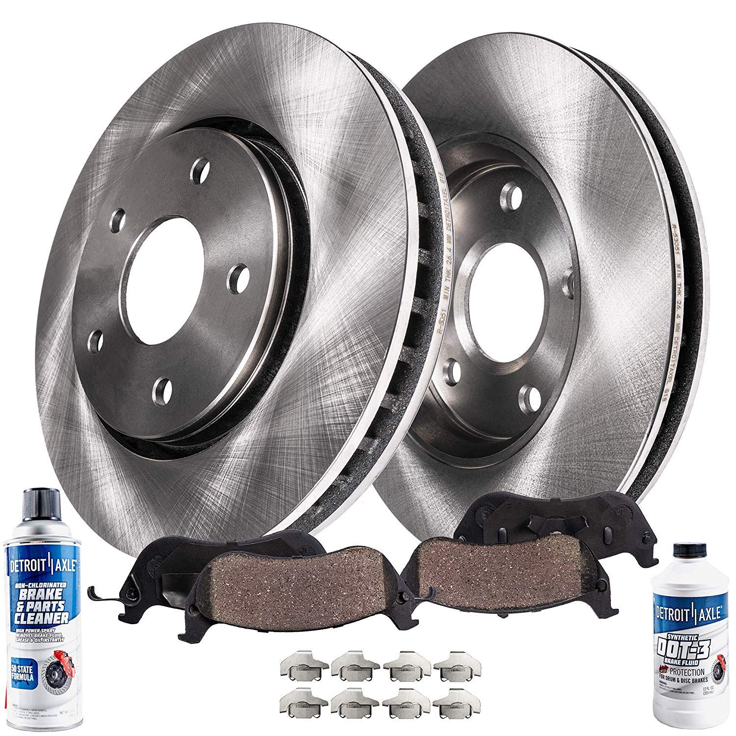 1998 1999 For Lincoln Continental Front Disc Brake Rotors and Ceramic Pads