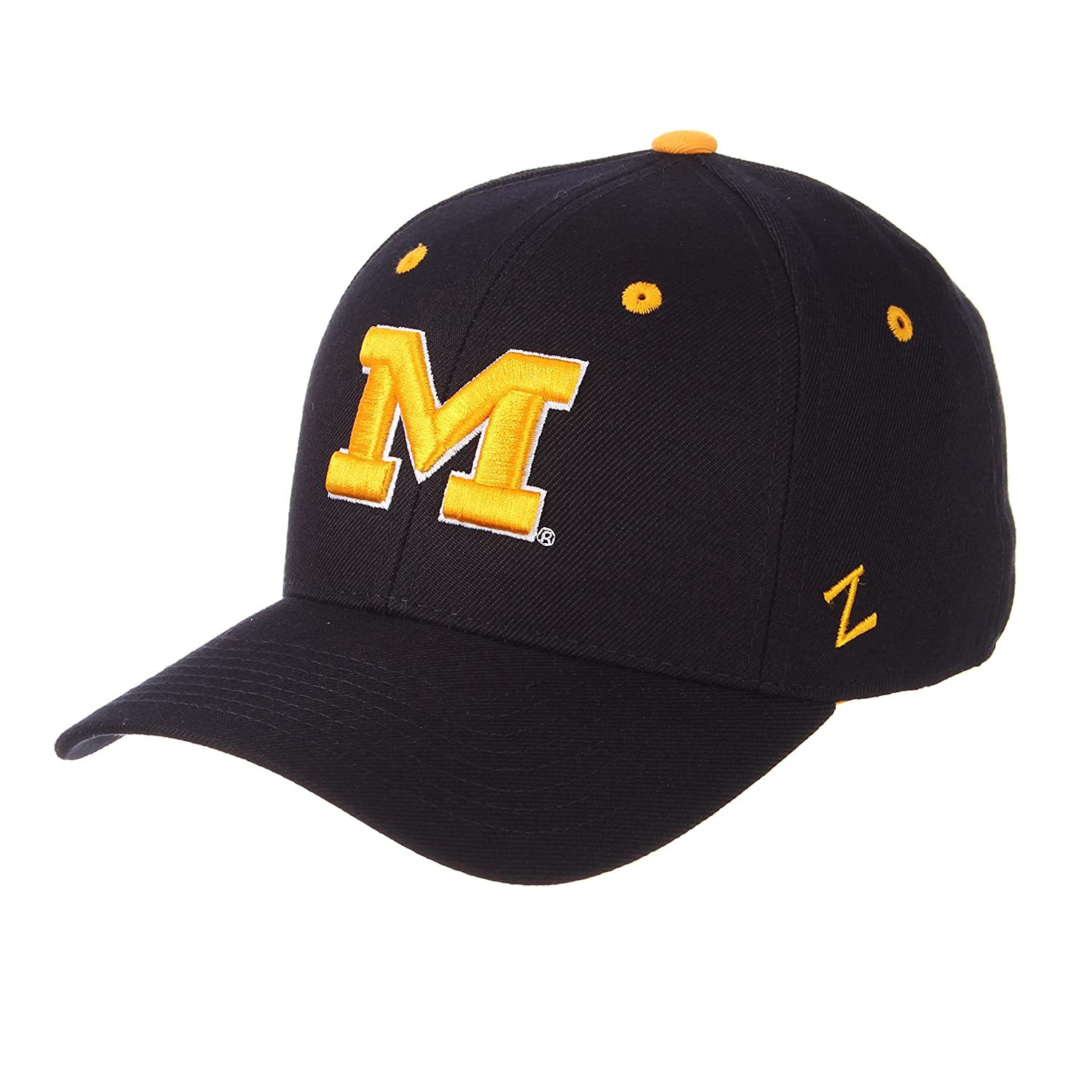 best service 022a9 b03a0 Amazon.com   NCAA Zephyr Michigan Wolverines Navy DH Fitted Hat (6 7 8)    Baseball Caps   Clothing
